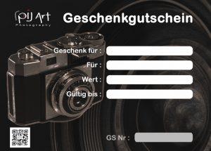 Fotografie Geschenkgutschein für privates Foto Coaching oder Fotokurs - PilArt - photography gift certificate privat coaching