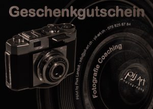 Fotografie Geschenk Gutschein für privates Fotografie Coaching oder Fotokurs - PilArt - photography gift certificate
