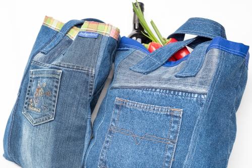 Indigoland Brigitt Landolt Jeans Designe Products Tragtasche Einkaufstasche