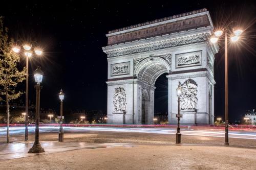 France Paris Arc de Triumph at Night
