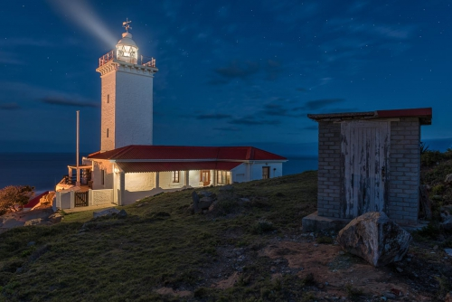 South Africa Mossel Bay Lighthouse at Night