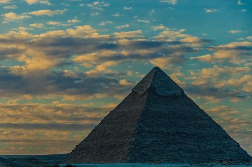 Egypt Giza Pyramid at Dusk