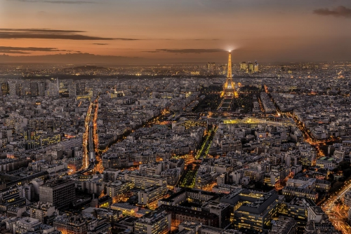 France Paris City Scape at Night