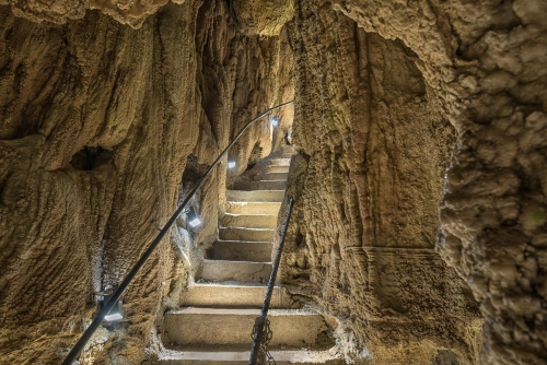 Switzerland Höllgrotte Narrow Stairs