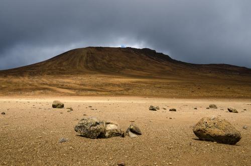 Tanzania Kilimanjaro Moonscape