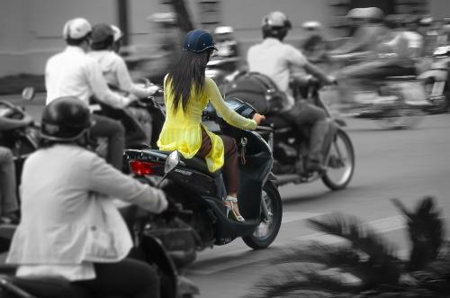 Vietnam Hanoi Classy Lady on Scooter
