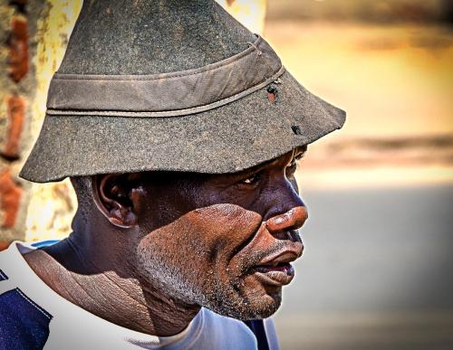 Malawi Lilongwe Portrait of Local Man