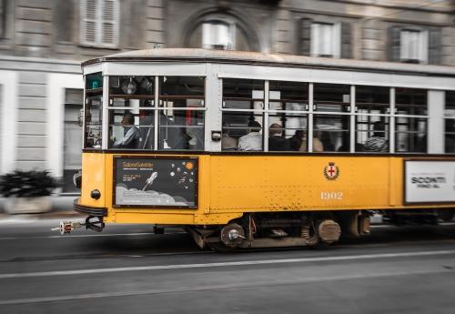 Italy Milan Street Tram